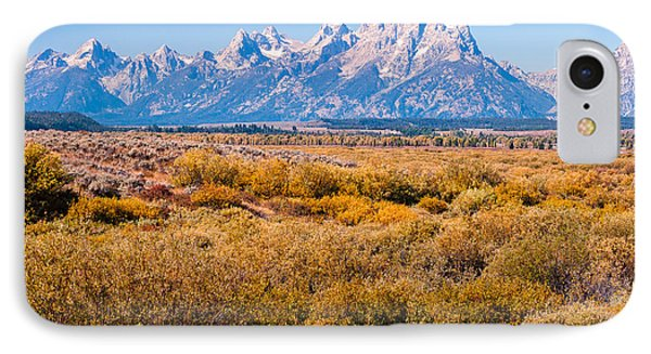 IPhone Case featuring the photograph Fall Colors In The Tetons   by Lars Lentz