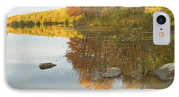 Fall Colors On Taylor Pond Mount Vernon Maine Phone Case by Keith Webber Jr