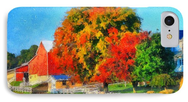 Fall Colors On The Farm IPhone Case by Dan Sproul