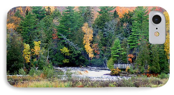 Fall Colors On The  Tahquamenon River   Phone Case by Optical Playground By MP Ray