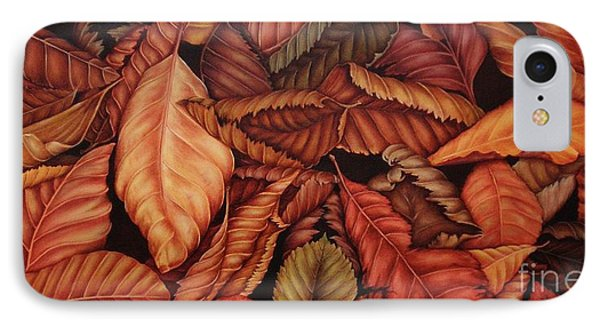 IPhone Case featuring the painting Fall Colors by Paula L