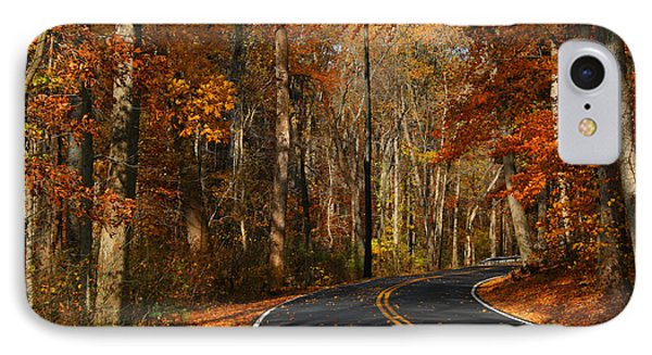 IPhone Case featuring the photograph Fall Curves by Andy Lawless