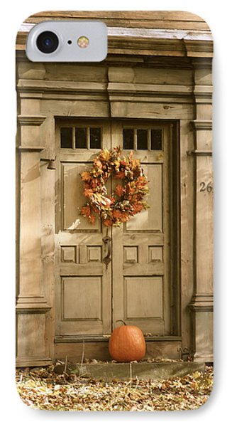 Traditional Fall Decor In New England IPhone Case by Robin Regan