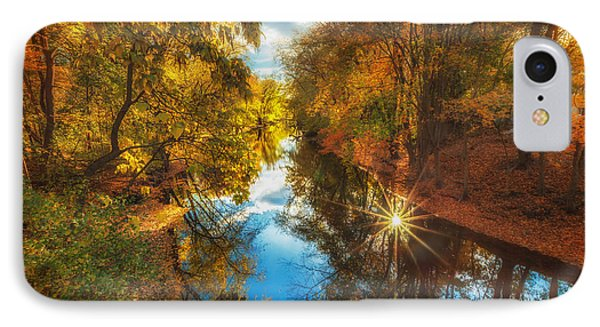 Fall Filtered Reflections IPhone Case by Sylvia J Zarco