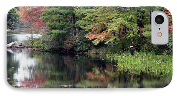 Fall Fishing  IPhone Case by Betty  Pauwels