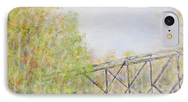 Fall Foliage And Bridge In Nh IPhone Case