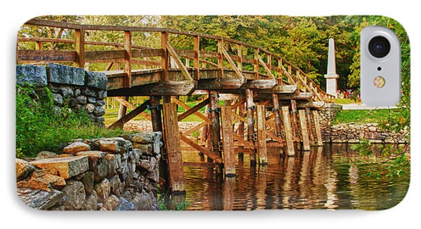 Fall Foliage Over The North Bridge IPhone Case by Jeff Folger