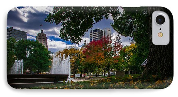 Fall Fort Wayne Skyline Phone Case by Gene Sherrill