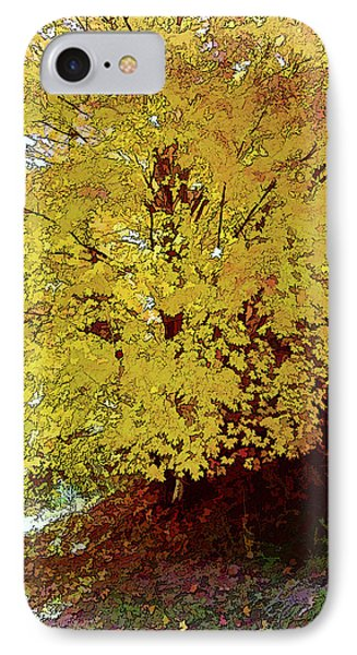 Fall In Yellow Phone Case by Larry Bishop