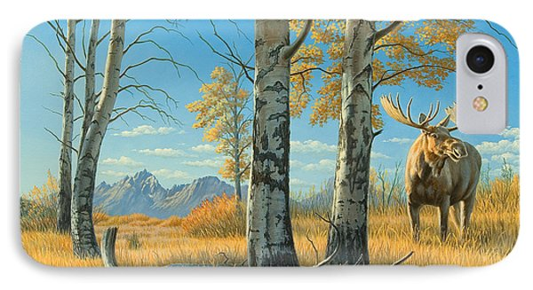 Fall Landscape - Moose IPhone Case