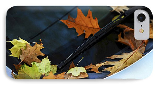 Fall Leaves On A Car Phone Case by Elena Elisseeva