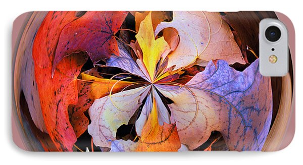Fall Leaves Orb IPhone Case by Bill Barber