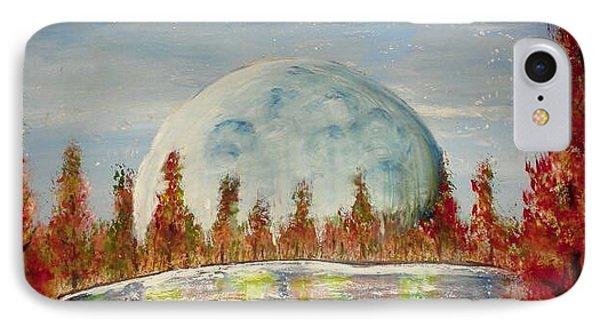 Fall Moon Rising IPhone Case by Carol Duarte