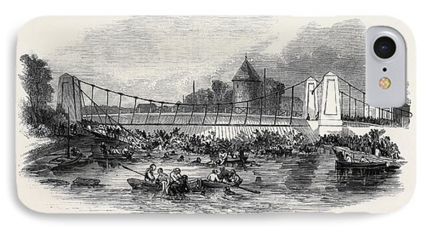 Fall Of The Suspension Bridge, At New Yarmouth IPhone Case