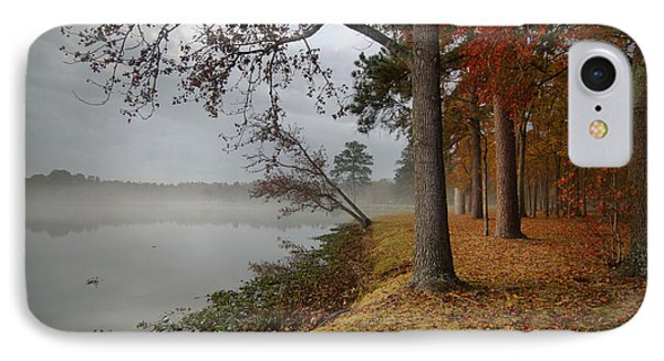 Fall On The Lake IPhone Case by Linda Unger