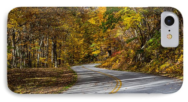 Fall Parkway IPhone Case by David Cote