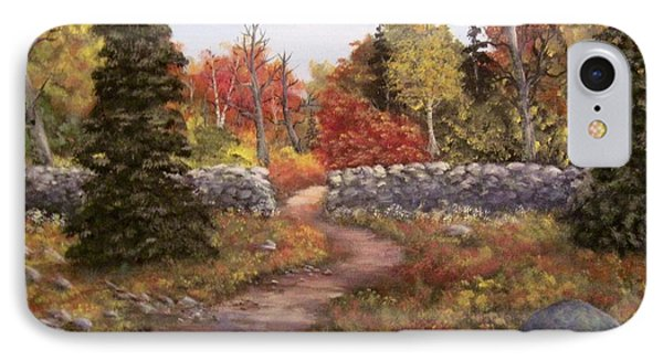 IPhone Case featuring the painting Fall Path by Megan Walsh