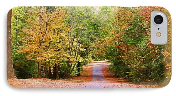 IPhone Case featuring the photograph Fall Pathway by Judy Vincent