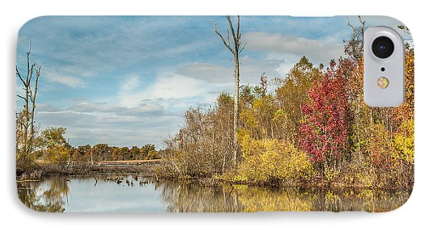 IPhone Case featuring the photograph Fall Pond by Debbie Green