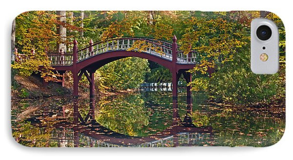 Fall Reflections At Crim Dell IPhone Case by Jerry Gammon