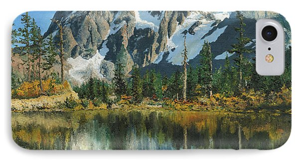 Fall Reflections - Cascade Mountains IPhone Case by Mary Ellen Anderson