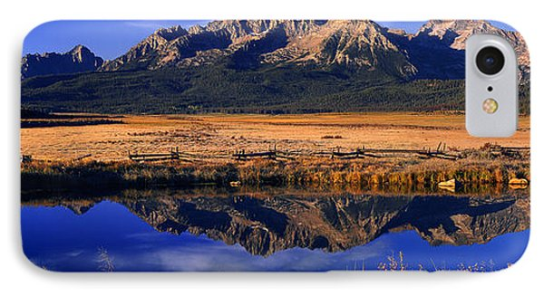 IPhone Case featuring the photograph Fall Reflections Sawtooth Mountains Idaho by Dave Welling