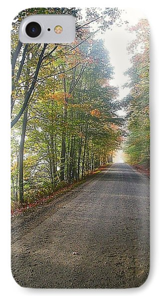 Fall Road IPhone Case by John Nielsen