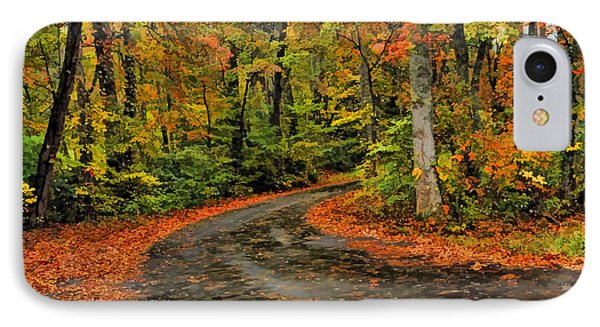 Fall Road To Glory IPhone Case by Kenny Francis