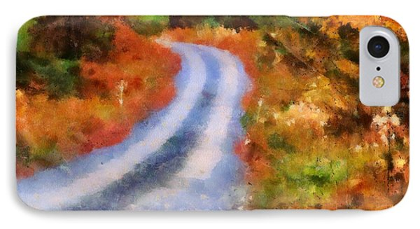Fall Road To Paradise IPhone Case by Dan Sproul