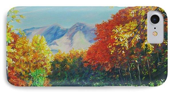 Fall Scene - Mountain Drive Phone Case by John Clark