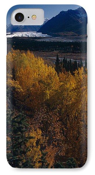 Fall Scenic Matanuska Glacier Chugach IPhone Case by Jeff Schultz