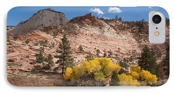 IPhone Case featuring the photograph Fall Season At Zion National Park by John M Bailey