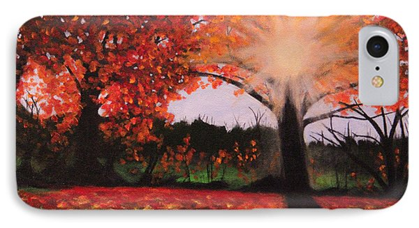 IPhone Case featuring the painting Fall Shine by Janet Greer Sammons