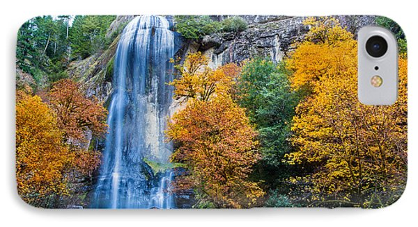 Fall Silver Falls IPhone Case by Robert Bynum