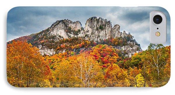Fall Storm Seneca Rocks IPhone Case by Mary Almond