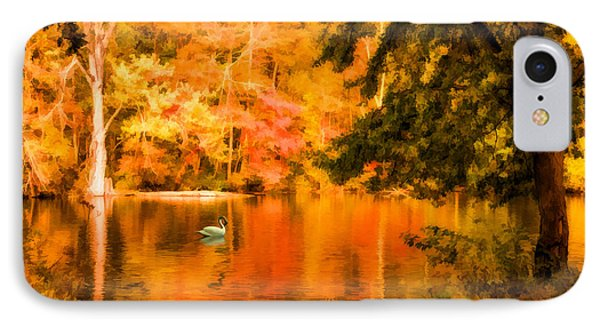 IPhone Case featuring the photograph Fall Swan by Mary Timman