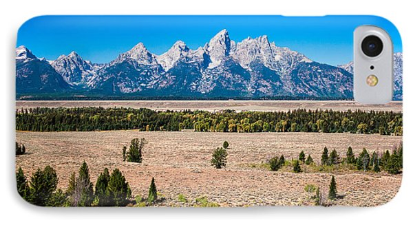 IPhone Case featuring the photograph Fall Tetons   by Lars Lentz