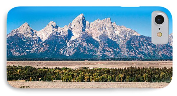 IPhone Case featuring the photograph Fall Tetons Panorama   by Lars Lentz