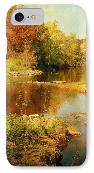 Fall Time At Rum River IPhone Case by Lucinda Walter