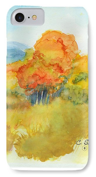 IPhone Case featuring the painting Fall Trees 2 by C Sitton