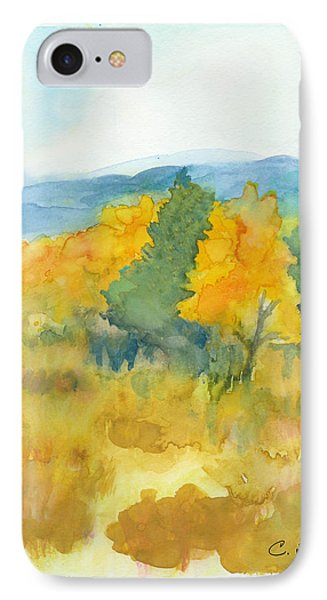 IPhone Case featuring the painting Fall Trees by C Sitton