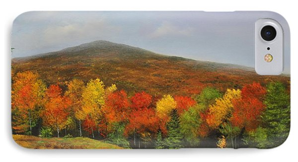 IPhone Case featuring the painting Fall Vista by Ken Ahlering