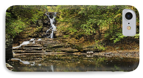 Fall Waterfall Creek Reflection Phone Case by Christina Rollo