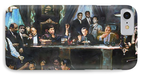 Fallen Last Supper Bad Guys IPhone Case by Ylli Haruni