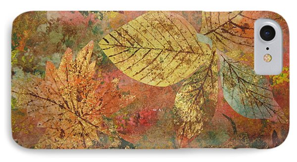 Fallen Leaves II IPhone Case by Ellen Levinson