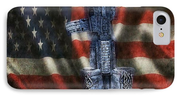 Fallen Soldiers Memorial IPhone Case by Peggy Franz