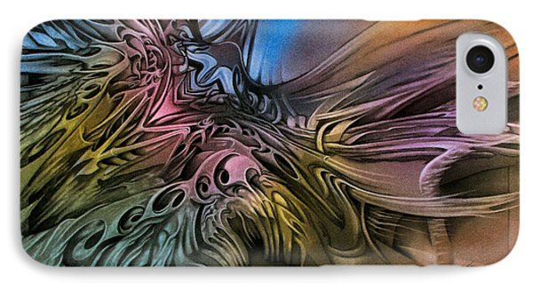 IPhone Case featuring the pastel Fallenangelscape1 '09 by Glenn Bautista