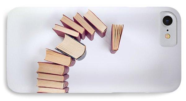 Falling Books IPhone Case by Viktor Pravdica