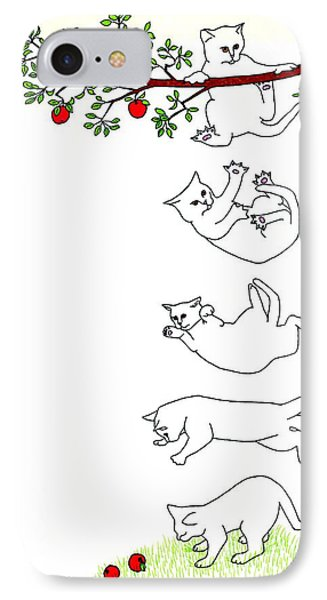 Falling Cat IPhone Case by Patricia Overmoyer