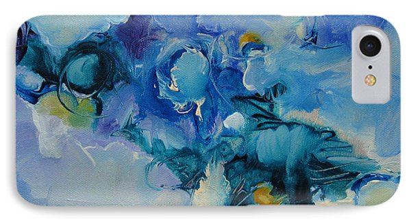 falling into blue I IPhone Case by Elis Cooke